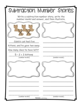 Work on Writing - Number Stories