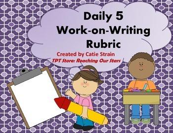 Daily 5 Work-on-Writing Rubric