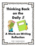 Daily 5 Work-on-Writing Student Reflection