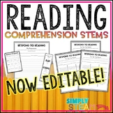 Reading Response Sheets for Any Book {EDITABLE} | Reading