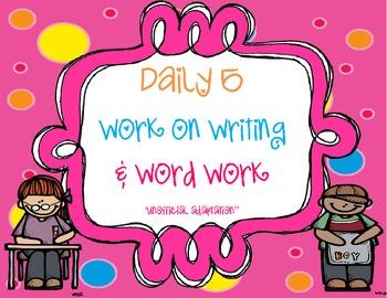 Daily 5 Work on Writing & Word Work Packet (FREEBIE)