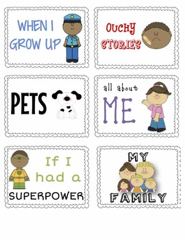 """Daily 5 """"Work on Writing"""" - Writing Station Class Notebook Labels"""