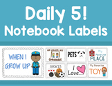 "Daily 5 ""Work on Writing"" - Writing Station Class Notebook Labels"