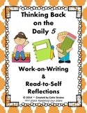 Daily 5 Work-on-Writing and Read-to-Self Student Reflectio