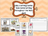 Daily 5 Writing Center Task Cards:  April Edition