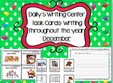 Daily 5 Writing Center Task Cards:  December Edition