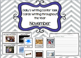 Daily 5 Writing Center Task Cards:  November Edition