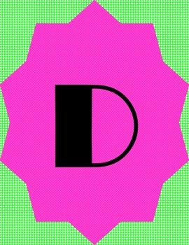 Daily 5 and CAFE Banner Pink and Green