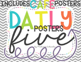 Daily 5 Posters - Gray Chevron [includes CAFE posters]