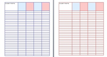 Daily 5 and Center/Groups planner & Progress chart - Patriotic Colors