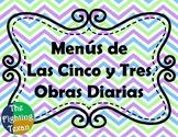 Daily 5 and Daily 3 Menus (Spanish)