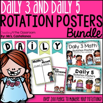 Daily 5 and Daily 3 Rotation Posters Bundle! (Classroom Ma