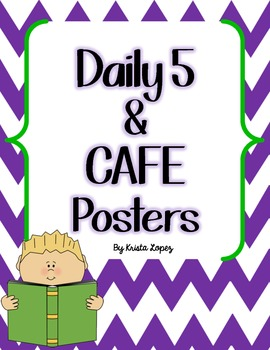Daily 5 and Daily CAFE Posters - Chevron