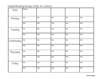 Daily 5 and Guided Reading Planning