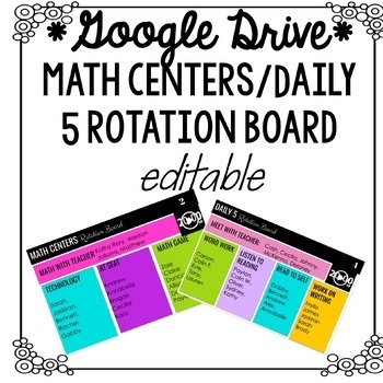 Daily 5 and Math Centers Digital Rotation Board (with timers!)