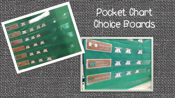 Daily 5 and Math Daily 3 Choice Board Cards Camping Theme