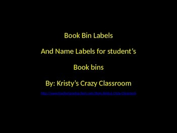 Daily 5 book bin lables and leveled library labels