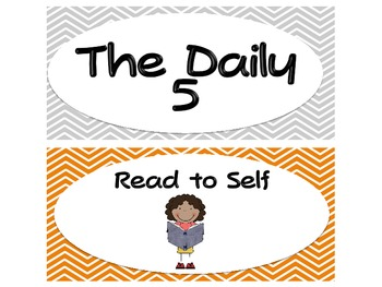 Daily 5 clip chart-Zany Zebras or Stick Kids (Your Choice!)