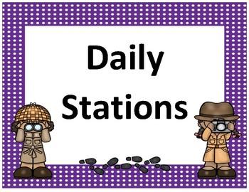 Daily 5 display~ Purple Polka Dot Detective