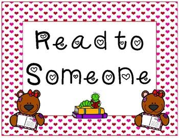 Daily 5 display~ Valentine Teddy Bear