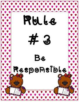 Classroom Rules~ Valentine Teddy Bear