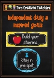 Daily 5 inspired goals