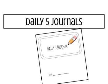 Daily 5/literary response journal