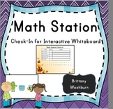Math station rotation check-in SMART Notebook