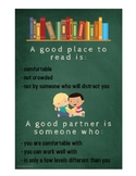 Daily 5 poster - where to sit and how to choose a partner