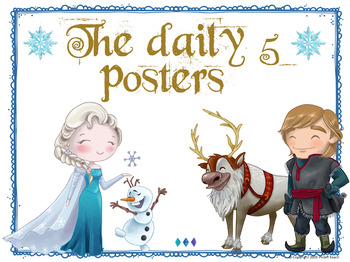 Daily 5 posters, Frozen - themed