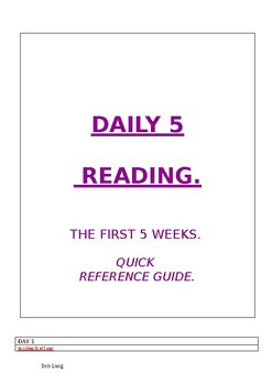 Daily 5 quick reference guide