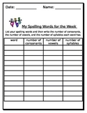 Daily 5 - spelling words for the week activity