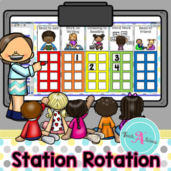 Station Rotation Chart for ActivInspire (Promethean Board)