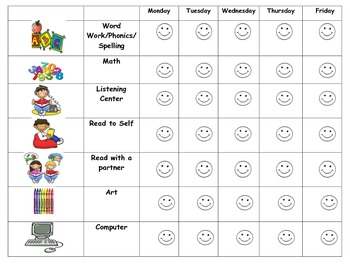 Daily 5+ tracking sheet for students