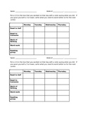 Daily 5 with reading group check off sheet