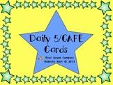 Daily 5/CAFE Cards - Owl Theme