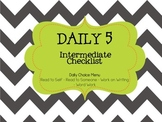 Daily 5/Cafe - Intermediate Checklist