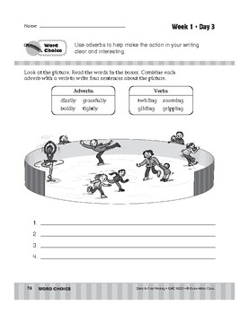Daily 6-Trait Writing BUNDLE, Grade 3, Unit 3 WORD CHOICE, Weeks 1-5