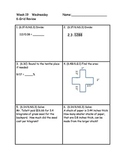 Daily 6-grid Math Review Packets for 6th grade Weeks 16-20