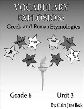 Daily 6th Grade Vocabulary Lessons - Greek & Roman Etymologies - Unit 3
