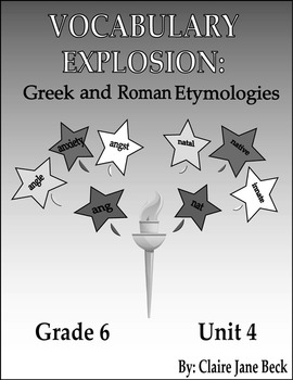 Daily 6th Grade Vocabulary Lessons - Greek & Roman Etymologies - Unit 4