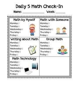 Daily 7 Literacy and Math Check-in