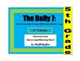 Morning Work / Warm-Ups - Daily 7 Math Essentials for 5th