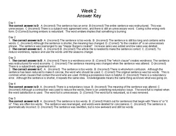 Daily ACT English Test Practice (Week 2)