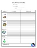 Daily Absentee Assignment Sheet