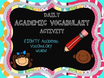 Daily Academic Vocabulary Activity