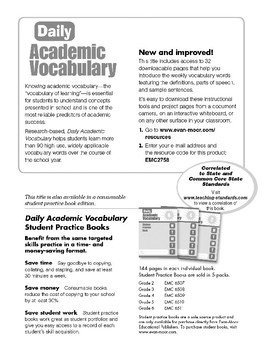Daily Academic Vocabulary, Grade 2