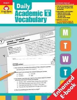 Daily Academic Vocabulary, Grade 6