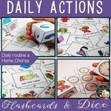 Daily Actions Flashcards and Dice