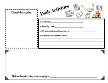 Daily Activities Anchor Outline